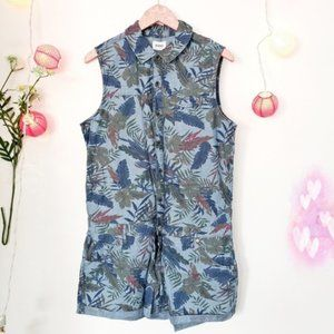 HUDSON tropical print romper NWT large